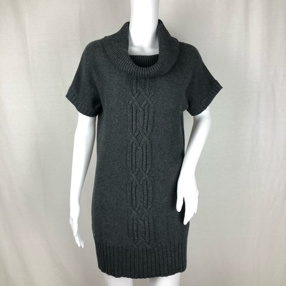 Athleta Dresses & Skirts - Athleta Gray Short Sleeve Sweater Dress Size M